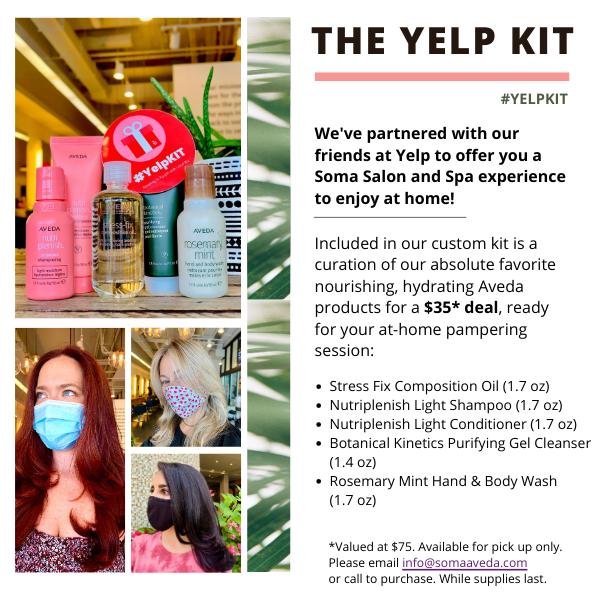 aveda yelp kit shampoo and conditioner at soma salon